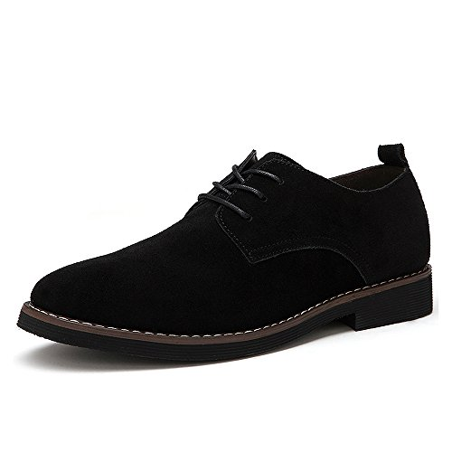 CCZZ Herren Modische Schnürhalbschuhe Casual Wildleder Leder Schuhe Klassiker Schnürer Oxfords Halbschuhe (Männer Für Schuhe Wildleder Casual)
