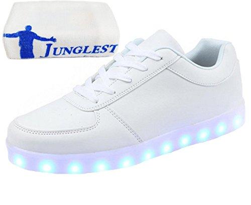 [Present:kleines Handtuch]JUNGLEST® Schwarz Schädel 7 Farbe Unisex LED-Beleuchtung Blink c32