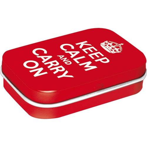 United Kingdom - Keep Calm and Carry On, Pillendose, 15g ()