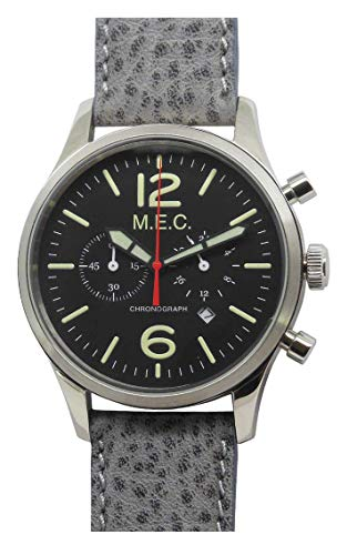 Herren-Armbanduhr Chronograph Quarz Leder Vintage