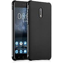 Nokia 6 Étui - Résistant Aux Chocs Anti-rayures Ultra Thin Affaires Série Soft Case Retour Couverture Silicone pour Nokia 6 - Noir