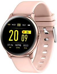 RanGuo - Reloj Inteligente para Hombres Mujeres y niños, Deportes al aire libre impermeable Smart Watch para sistema Android y iOS, Apoyo recordatorio de llamada y recordatorio de mensaje (Rosa)