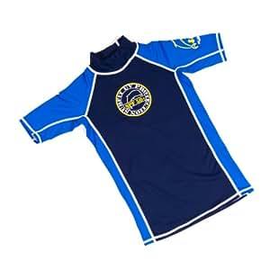 Surfit Boy's Plain Short Sleeve Top UVP 50+ - Blue/Royal, Size 2-3
