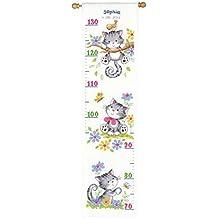 Vervaco - Plantilla para hacer medidor de altura de punto de cruz, diseño de gatos, multicolor