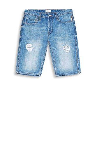 edc by ESPRIT Herren Shorts Blau (Blue Medium Wash 902)