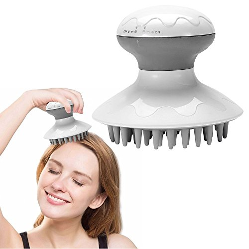 5 en 1 électrique masseur de tête anti-statique du cuir chevelu relaxation soulagement du stress brosse à récurer les cheveux