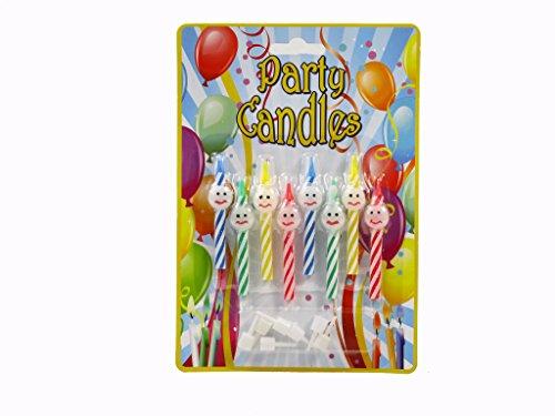 Roxan-8-candeline-Happy-Face-per-festa-di-compleanno-con-supporti-ca-6-centimetri-4-colori
