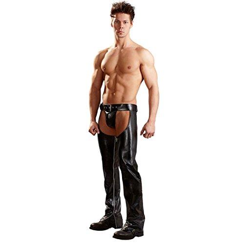 Erotische Herren Cowboy Hose mit String - Pofrei S - XXL Schwarz Svenjoyment Underwear Größe Large