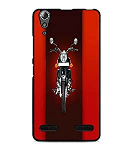 PrintDhaba Bike D-4458 Back Case Cover for LENOVO A6000 PLUS (Multi-Coloured)
