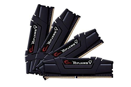 G. Skill Ripjaws V Series F4–3200C14q-64gvk 64GB DDR43200MHz CL141,35V Arbeitsspeicher-Kit–Classic schwarz