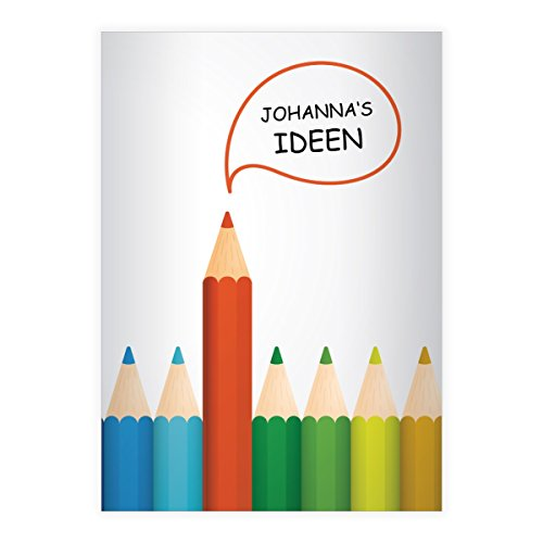 Stylish Bright Ideas A4Exercise Books, Rake Handle with Doodle Pattern Envelope Inner Line Style 22(Checked), white
