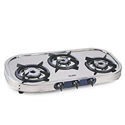 Glen 3 Burner Stainless Steel Cooktop 1033 With Drip Tray