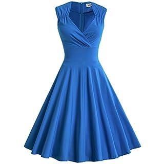 MUXXN Women's Evening Bridesmaid Neck V oscilacion Retro 1950s Skirt - - XX-L