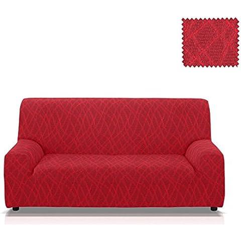 Funda de sofá elástica Mercurio Tamaño 4 plazas (de 205 a 235 Cm.), Color Rojo (varios colores disponibles)