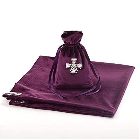 BLESSUME Altar Tarot Table Cloth Cross Star with Tarot Pouch