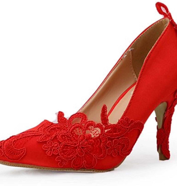 ZQ Scarpe di boda-tacones-tacones puntiagudos-boda vestito Fiesta Fiesta Fiesta noche-rosso-donna, 3  - 3 3 4  - us 6,5-7   eu... | Conveniente  | Uomo/Donne Scarpa  a358e5