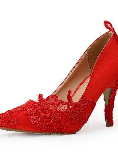 WSS 2016 Chaussures de mariage-Rouge-Mariage / Habillé / Soirée & Evénement-Talons / Bout Pointu-Talons-Homme 3in-3 3/4in-us5.5 / eu36 / uk3.5 / cn35