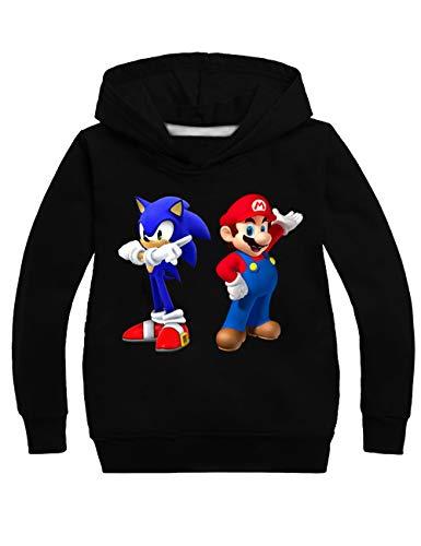 Super Mario Hoodie - Super Mario Pullover Kinder,Mario Hoodie Mädchen,Sweatshirt