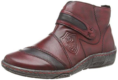 Remonte Dorndorf D3873, Sneaker alta donna, Rosso (Rot (vino/schwarz/wine / 35)), 42