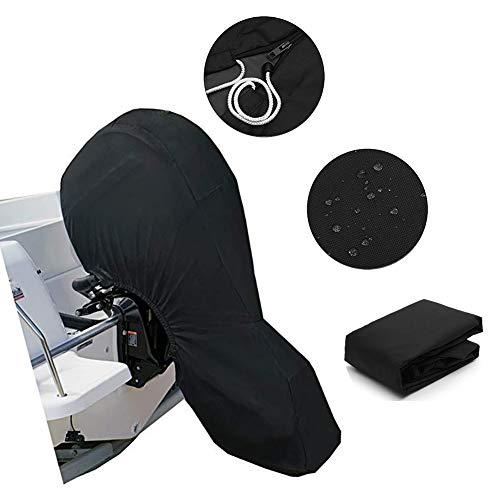 Silvotek Außenborder Abdeckung - Abdeckung für Außenborder mit 600D Heavy Duty Oxford-Gewebe + zusätzlicher PVC-Beschichtung, Motorhülle Wasserdicht Außenborder Persenning Abdeckung