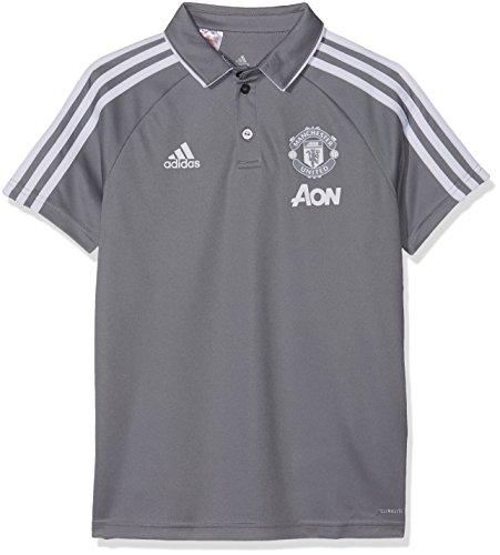 adidas Manchester United Jungen Poloshirt, Grey/White, 140 Preisvergleich