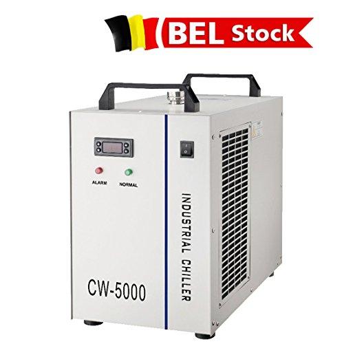 Belgien Lager, S & A CW-5000AG Industrie Wasserkühler (AC220V 50Hz) für 80W oder 100W CO2 Glas Laser Tube Kühlung, 0.4HP