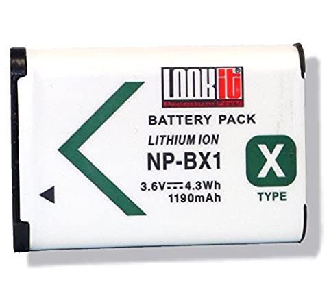 LOOKit Premium Batterie pour Sony NP-BX1 (1190 mAh, 3.6V) -- pour Sony HX350, Sony HDR-AS300R, Sony Fdr de x3000r, Sony HDR-AS50, Sony DSC-RX100M4, Sony FDR-X1000, Sony HX90V, Sony HX90, Sony WX500, Sony HDR-AS200V