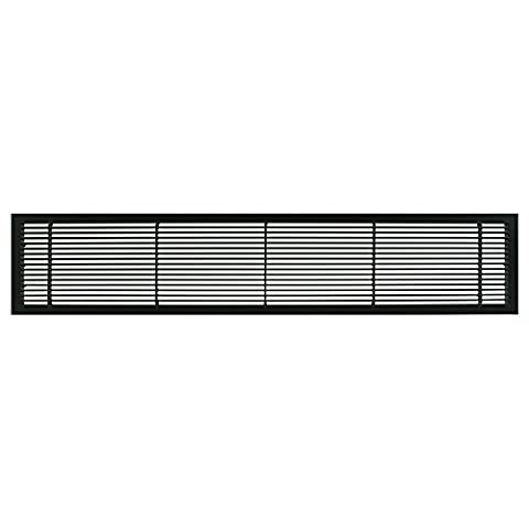 Architectural Grille 100043004 AG10 Series 4 x 30 Solid Aluminum Fixed Bar Supply/Return Air Vent Grille, Black-Matte by Architectural Grille