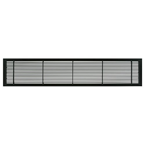 Architectural Grille 100043004 AG10 Series 4 x 30 Solid Aluminum Fixed Bar Supply/Return Air Vent Grille, Black-Matte by Architectural Grille -