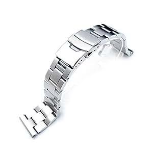 Bracelet de montre en 316L acier inoxydable, SUPER Oyster 21mm Brossé, rectiligne fin