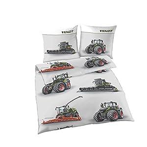 FENDT Renforce-Bettwäsche-Set | Qualitätsbettbezug aus 100% Baumwolle, Deckenbezug 135x200 cm, Kissenbezug-80x80 Bettbezug | FENDT Landmaschinen