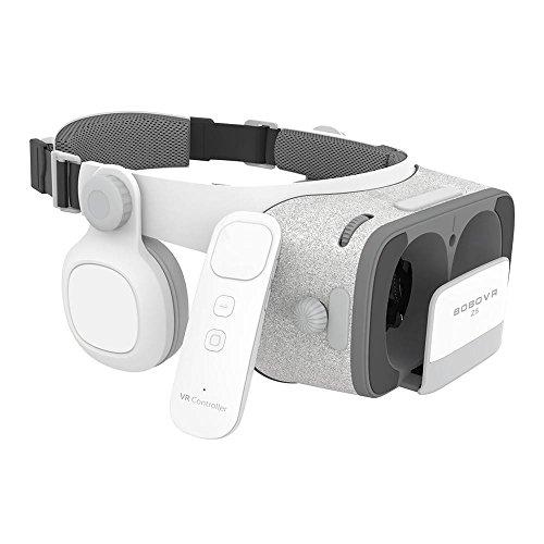 """9 2 Surround-sound-system (BOBOVR Z5 3D Daydream View VR Headset Brille mit einstellbar Kopfhörer inkl. 9-Achsen Wireless Bluetooth Controller (Fokus & Linsen einstellbar / 4,7""""-6,2"""" / 120° FOV) weiß)"""