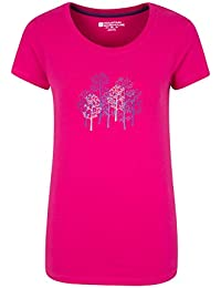 Mountain Warehouse T-shirt Femme Manches Courtes 100% Coton Respirant Forest Trees