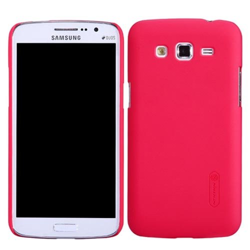 Generic Nillkin Super Frosted Shield Case Cover For Samsung Galaxy Grand 2 Red + Screen Guard - SDINFOTECH