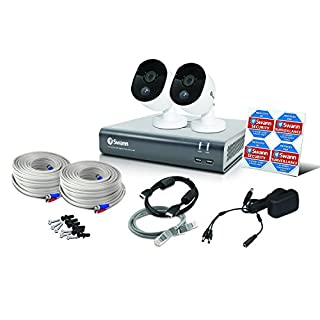 Swann 4 Channel Security System: 1080p Full HD DVR-4575 with 1TB HDD & 2 x 1080p Thermal Sensing Cameras - Pack of 2