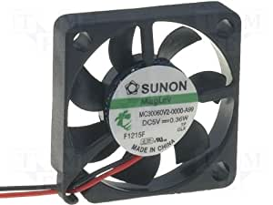 Sunon MC30060V2-A99 Ventilateur 30 x 30 x 6 mm DC 5 V 7500 tours/min 24 dBA Roulement vapo 2 fils