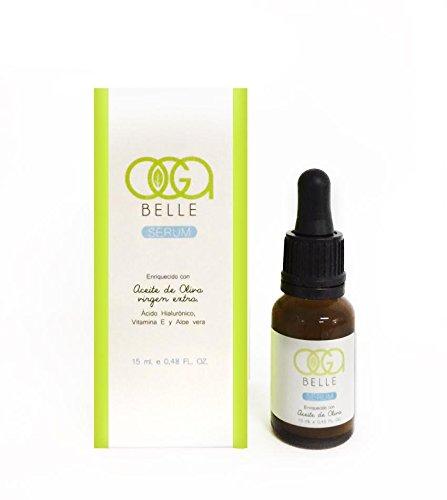 OGABELLE - Sérum Facial Hidratante Anti-Edad con Aceite de Oliva, Ácido Hialurónico, Vitamina E y Aloe Vera - 15ml