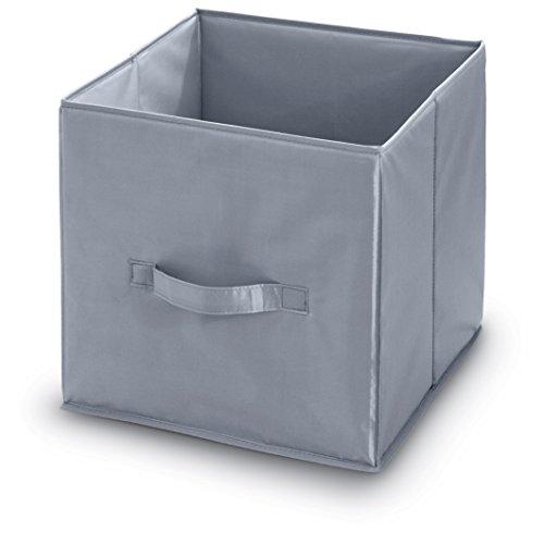 Domopak Living 8001410070357 Cube Polyester, Gris, 32 x 32 x 32 cm