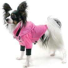 Hunderegenjacke rosa 2XL von Theo