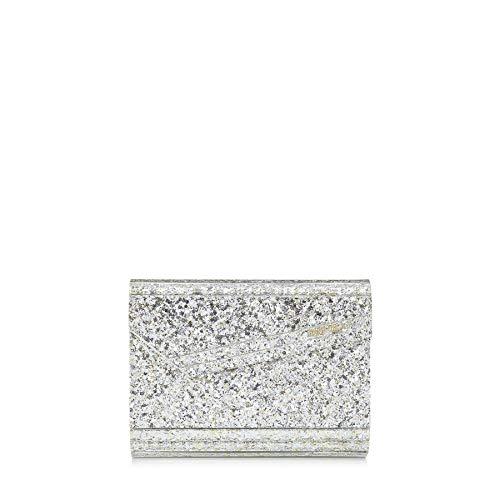 Jimmy Choo Damen Candycocchampagnechampagn Silber Glitzer Brieftaschen
