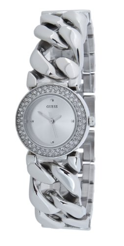Guess Jazz Women's Quartz Watch  Silver Dial Analogue Display  Silver Stainless Steel Strap W90081L1