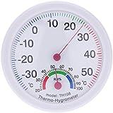 Generic Round Clock Shape Analog Temperature Humidity Meter Thermometer Hygrometer