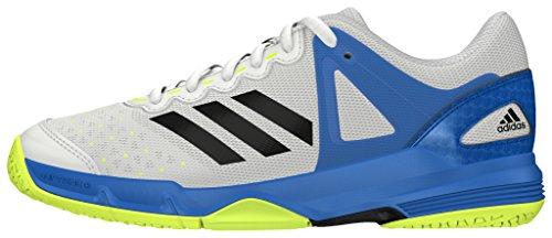 adidas Jungen Court Stabil J Handballschuhe Blanco (Ftwbla / Negbas / Azuimp)