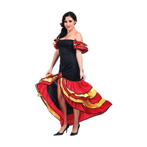 Kostüm Lady Rumba Flamenco (Rumba Tänzerin Lady Kleid Kostüm Fasching)
