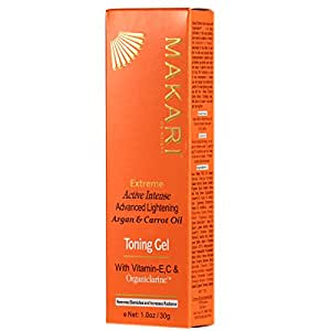 Makari Extreme Active Intense Advanced Lightening Argan & Carrot Oil Toning Gel with Vitamin E, C & Organiclarine 30g