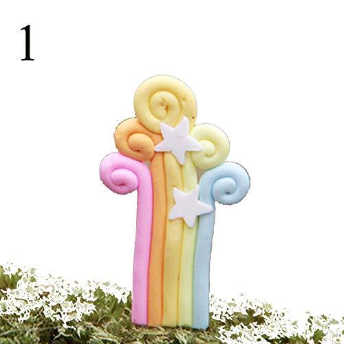 Cupcake-Topper in Regenbogen-Optik, einzigartig, für Hochzeit, Party, Geburtstag, Party, Hochzeit, Gastgeschenke, Zubehör ()