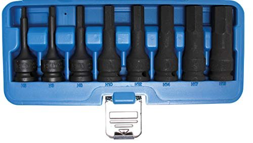 Bgs Force Bit Set Utilisation, intérieur 6 pans, 5-19 mm, 12,5 mm, 8 Pièces, 1 pièce, 5481