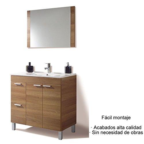 Hogar Decora Mueble de Baño con Espejo y Lavabo de PMMA (NO CLÁSICA CERÁMICA) Grifería Opcional