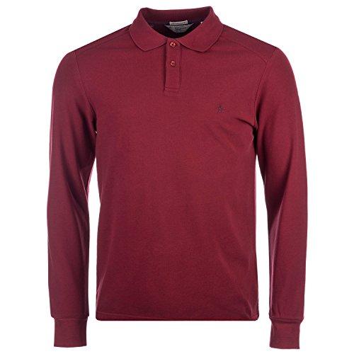 mens-original-penguin-mens-eu-slim-fit-daddy-ls-polo-shirt-in-burgundy-l