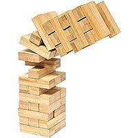 pandoo Wackelturm aus Bambus | Geschicklichkeitspiel, Familienspiel, Gesellschaftsspiel